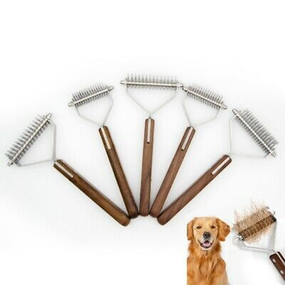 Pet Grooming Comb Cat Dog Hair Brush Shedding Tool Stainless Steel Fur Trimmer