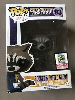 SDCC 2015 Funko POP! Guardians of the Galaxy Rocket & Potted Groot #93