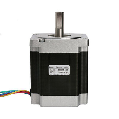 1PC Nema34 86BYGH stepper motor 965oz.in=7.7N.m 5.6A 113mm 4wires CNC Router Kit