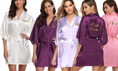 Custom Personalised Wedding Bridal Party Bridesmaid Robes! Gold Glitter NEW