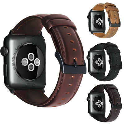38/42 Retro Genuine Leather iWatch Band Men Casual Strap For Apple Watch 4 3 2 1