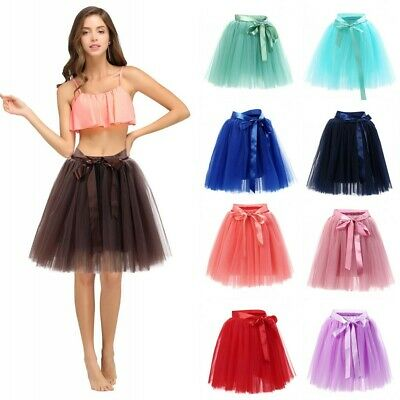 Women Layers Tulle Tutu Skirt Wedding Princess Ballet Fancy Dress Party Costume