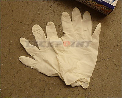 Latex Disposable Gloves Rubber Gloves Sz. L Powdered Gloves