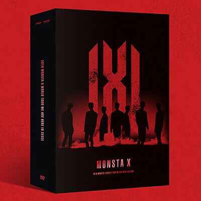 2019 MONSTA X WORLD TOUR WE ARE HERE IN SEOUL DVD 3DISC+POSTER+P.Book+Cards+GIFT