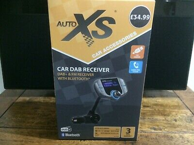 Auto XS Car DAB + FM Receiver With Bluetooth  USB Charger New  With Warranty