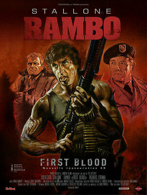 RAMBO - Affiche cinema 40X60 - 120x160 Movie Poster