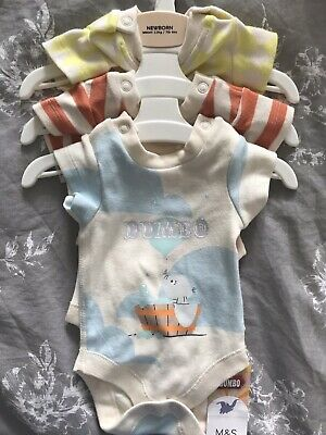 M&S Baby Dumbo Babygrows Bundle Newborn