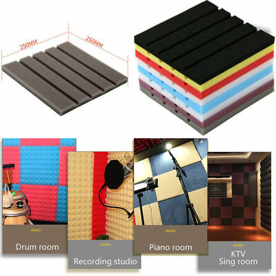 1pcs Acoustic Foam Panel Sound Stop Absorption Sponge Studio KTV Soundproof  ~ S