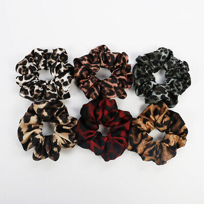 Women Leopard Elastic Hair Ties Band Ropes Ring Ponytail Holder Accessories Hot