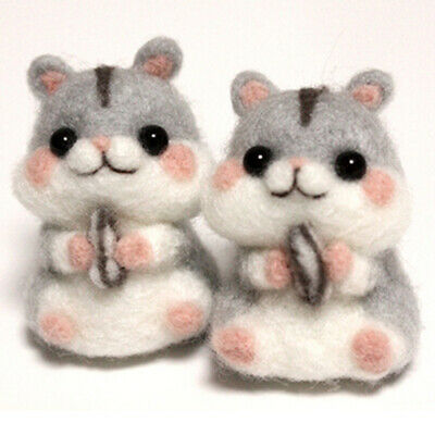 Wool Needle Felting Poked Material Kit Non Finished DIY Handcraft Hamster Crafts