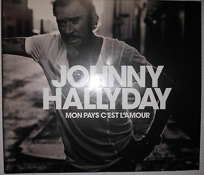 NEUF RARE  johnny hallyday  Mon pays c'est l'amour  CD album COLLECTOR digipack