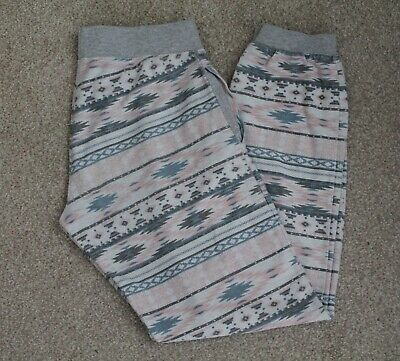 New Look Generation 915 Aztec Print Grey Casual Trousers/ Joggers, age 14-15
