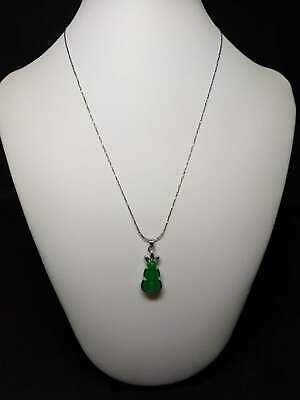Exquisite Silver Inlaid Natural Jade Necklace & Pendant   Z401