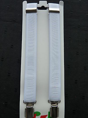 BRACES for BOYS/GIRLS/CHILDREN/KIDS - WHITE .fit approx. 6YRS. TO 12yrs. UK MADE