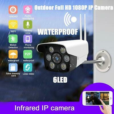 IP66 2.4G WiFi Home Security Motion Detection Camera HD 1080P Night Vision Cam