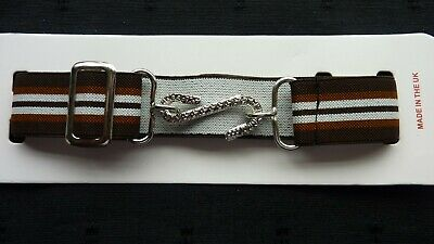 STRETCHY SNAKE BELTS/BOYS/GIRLS/CHILDRENS/KIDS..BROWN with white stripes UK MADE
