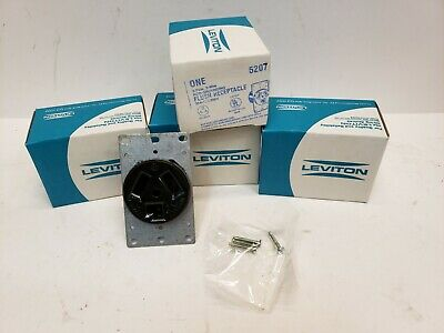 Lot 4 Leviton 5207 Flush receptacle NEMA 10-30R 30amp 125/250 volt Free Shipping