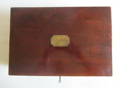 Antique 19th century Mahogany Writing Slope Box