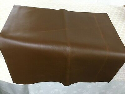 LEATHER OFF CUTS SQUARES  TEAK 53cm x 53cm
