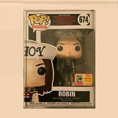 Funko Pop Sdcc 2018 Stranger Things Ahoy Robin #674 Le 1/1800 W/ Protector