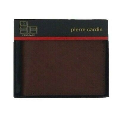 NEW NIB PIERRE CARDIN MEN/'S LEATHER CREDIT CARD WALLET PASSCASE BROWN 5979-02