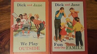 2 Dick and Jane books  by Grosset (we play outside, fun with our family)