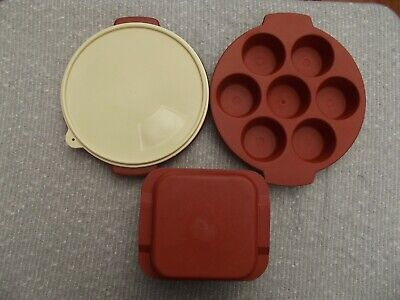 VTG Eagle Brand Heavy Duty MICROWAVE COOKWARE Muffin Pan Divided Plate Deep Pot