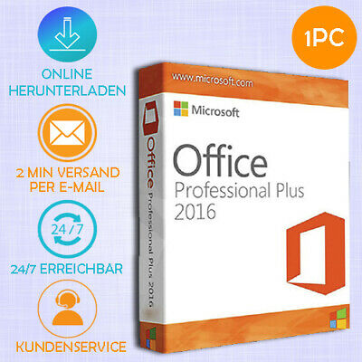 ➤ MS OFFICE 2016 Professional Plus Pro Plus ➤32&64 Bits ➤ESD ➤Produkt per ✉Email