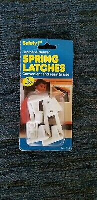 SAFETY 1ST 3 PACK Cabinet And Draw Spring Latches
