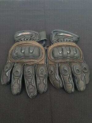 Speed Max Lightweight Leather Motorcycle Gloves Size L