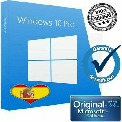 windows 10 Pro- ESPAÑA Key/clave/llave Licencia 100% Original32/64 Bits  ✅100%✅