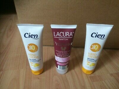 Lacura & Cien Hand Cream Bundle With Beeswax & Vitamin E Large Tubes New