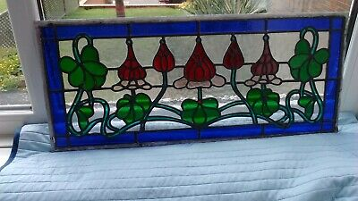 Stained glass panel (skylight) & separate door panel beautiful colours & design
