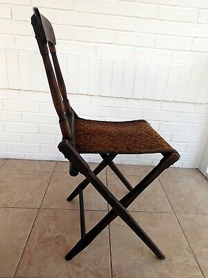 Vintage Folding Chair, Tapestry, Funeral
