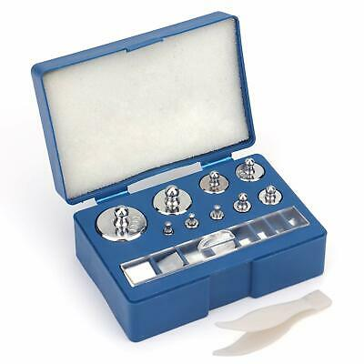 Bekith 17 Pcs Precision Weight 10Mg-100G Precision Steel Calibration Weight Kit