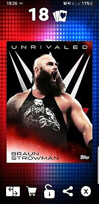 Topps WWE Slam App Digital Card 190cc Braun Strowman Unrivaled Award 19