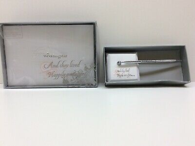 Fairytale Happily Ever After Wedding Guest Book plus Pen