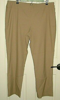 Tribal Womens Size 16 (37x28) Brown Casual Tapered Leg Pants Stretch 20-16413