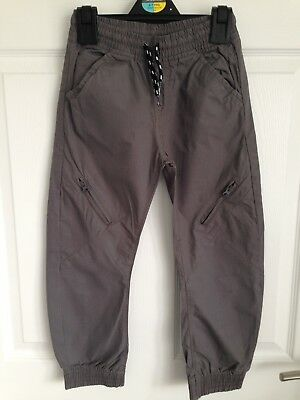 Boys Grey Mothercare Casual Cuffed Trousers - Age 6yrs