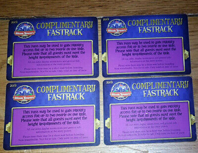 Alton Towers fastrack priority access upto 1.4m except WickerMan & Cbeebies 2x4