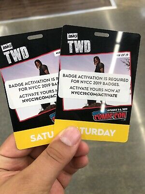 2 New York Comic Con Saturday Badges NYCC 2019 In Hand