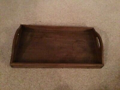 Antique Victorian Edwardian Vintage Wooden Serving Tray