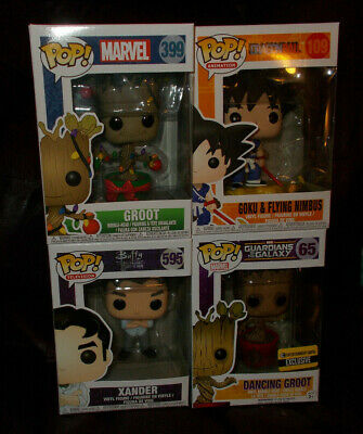 Funko Pop! Lot Of 4 Mixed: Animation; Marvel & Television (Lot #3) ~ All Mib