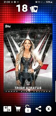 Topps WWE Slam Digital Card 279cc Trish Stratus high caliber 2018