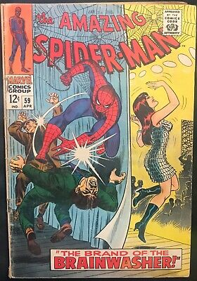 The Amazing Spider-Man Comic (Marvel,1968) #59 1St Mary Jane Cover Silver Age ~