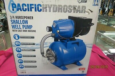 Pacific Hydrostar 69305 3/4Hp Shallow Well Pump New