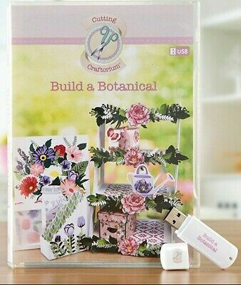 Cutting Craftorium USB - Build a Botanical Papercraft Projects - used