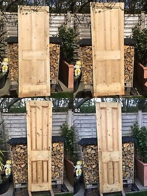 7 Antique Victorian Solid Wood Pitch Pine Doors. Some Dipped & Some Waxed