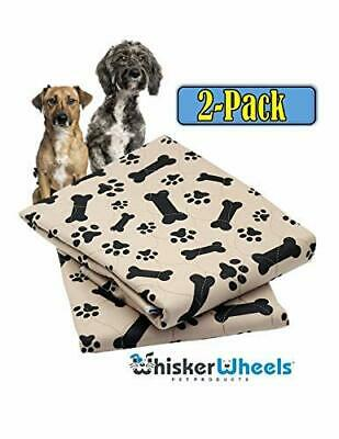 Washable Pee Pads for Dogs Whelping Reusable 2-Pack Quilted Large 32 x 30 Extra