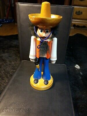 Cowboy Nutcracker Mexican German Flergestellt DDR VTG HTF wood